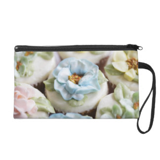 Cupcakes with flower icing wristlet