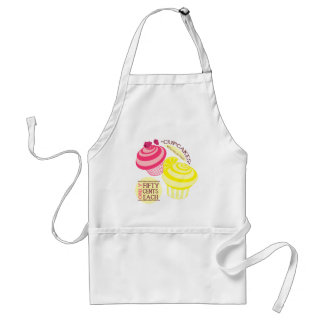 Cupcakes With Fresh Fruit - Raspberry & Lemon Aprons