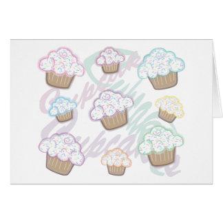 Cupcakes with Pastel Sprinkles Greeting Card