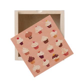 Cupcakes Wooden Keepsake Box