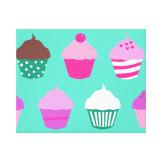 Cupcakes wrapped canvas canvas print