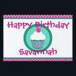 "Cupcakes yard sign<br><div class=""desc"">cupcakes design</div>"