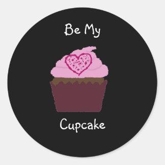 cupcakesolo, Be My, Cupcake Classic Round Sticker