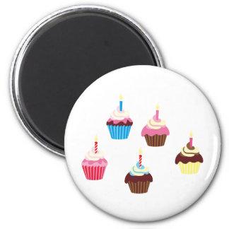 CupcakesPinkBlue4 2 Inch Round Magnet