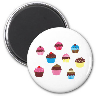 CupcakesPinkBlue5 2 Inch Round Magnet