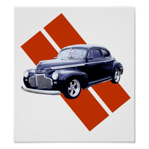 Cupé 1941 de Chevy del azul Póster