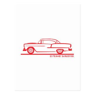 Cupé 1955 de Chevrolet Hardtop Tarjetas Postales
