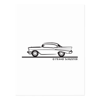 Cupé 1957 de Chevrolet Hardtop Tarjeta Postal
