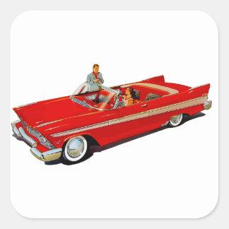 Cupé 1957 del convertible del belvedere de pegatina cuadrada