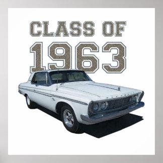 "Cupé 1963 de Plymouth ""clase de 1963"". Póster"