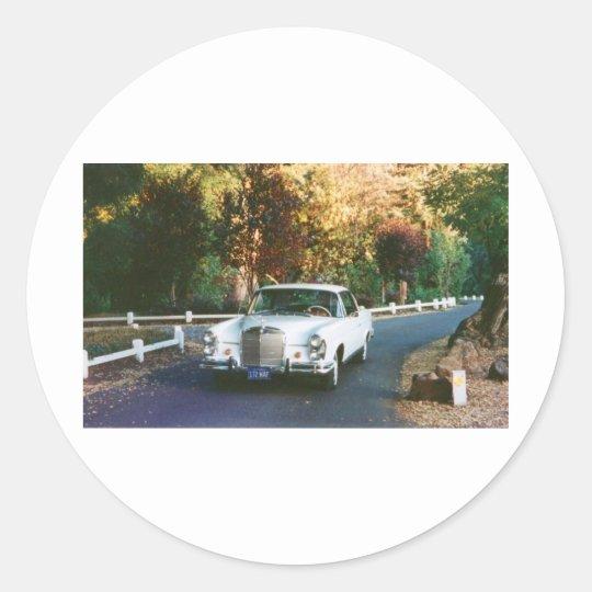 cupé 1965 del Benz 220SEb de 1965_220SEb_001 Pegatina Redonda