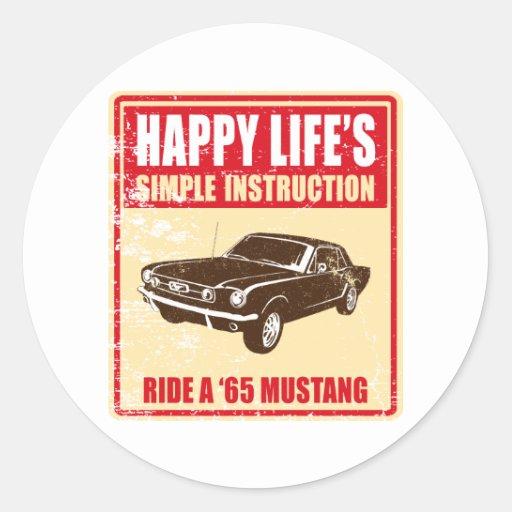 Cupé 1965 del mustango de Ford Etiqueta Redonda