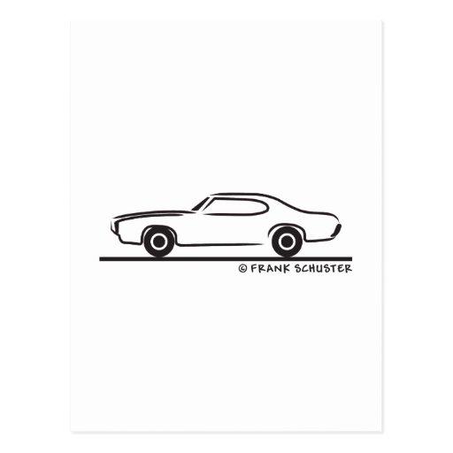 Cupé 1969 de Pontiac GTO Tarjetas Postales