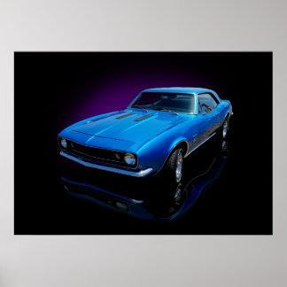 cupé de 1967 azules impresiones