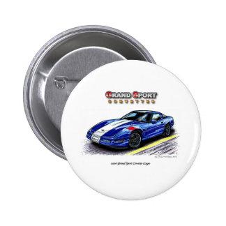 Cupé magnífico del Corvette del deporte 1996 Pin Redondo De 2 Pulgadas