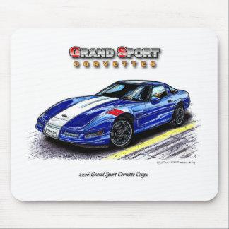 Cupé magnífico del Corvette del deporte 1996 Tapetes De Raton