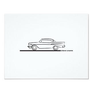 "Cupé superior duro 1957 de Chevy Invitación 4.25"" X 5.5"""