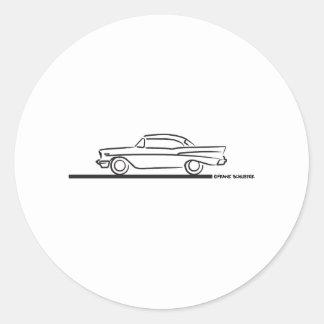 Cupé superior duro 1957 de Chevy Pegatina Redonda