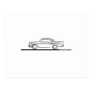 Cupé superior duro 1957 de Chevy Tarjeta Postal