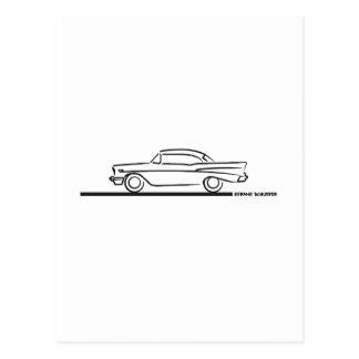 Cupé superior duro 1957 de Chevy Tarjetas Postales