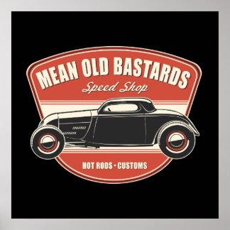 Cupé viejo malo de los bastardos póster