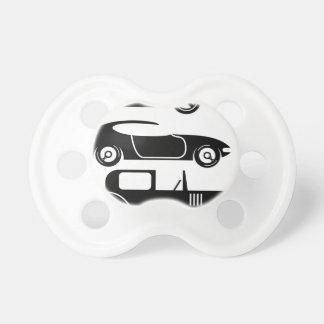 Cupé y limo retros de las carreras de coches del chupetes para bebés