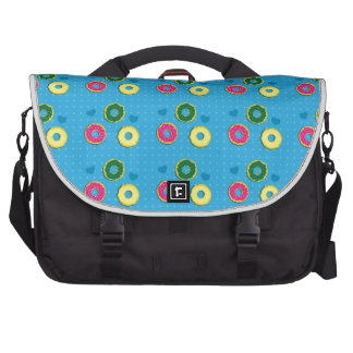 Cuper cute doughnuts of different colours pattern laptop computer bag