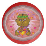 Cupid African baby Plate