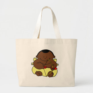 Cupid Afro Large Tote Bag