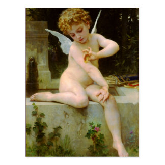 Cupid and butterfly by Bouguereau Postcard