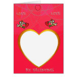 Cupid and Heart Frame Add Your Photo Card