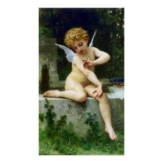 Cupid and His Butterfly Poster