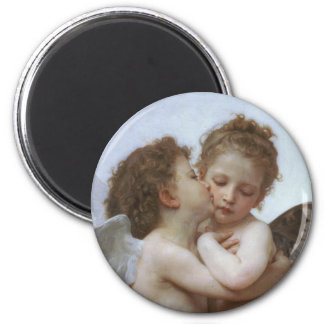 Cupid and Psyche as Babys 2 Inch Round Magnet