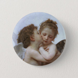 Cupid and Psyche as Babys Pinback Button