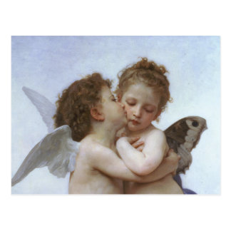Cupid and Psyche as Babys Postcard