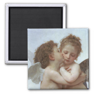 Cupid and Psyche as Children 2 Inch Square Magnet