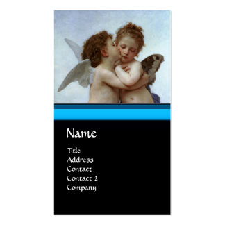 Cupid and Psyche as Children / Angels First Kiss Double-Sided Standard Business Cards (Pack Of 100)