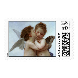 Cupid and Psyche as Children / Angel's First Kiss Postage