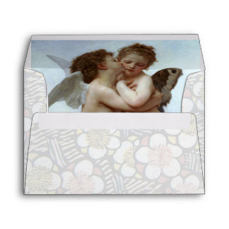 Cupid and Psyche as Children blue white Envelope