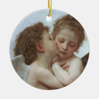 Cupid and Psyche as Children Ceramic Ornament