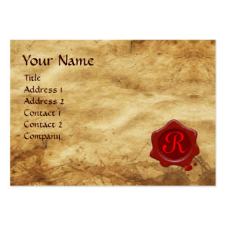 Cupid and Psyche as Children MONOGRAM Parchment Large Business Cards (Pack Of 100)