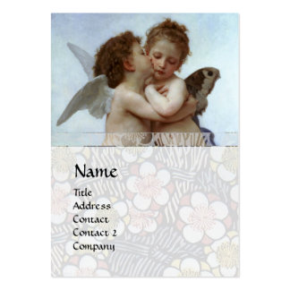 Cupid and Psyche as Children MONOGRAM Sapphire Large Business Cards (Pack Of 100)