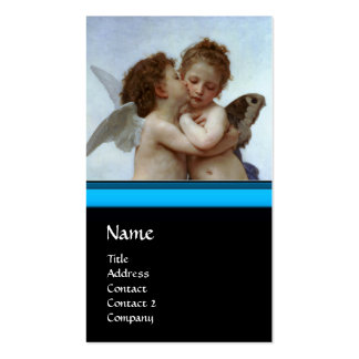 Cupid and Psyche as Children MONOGRAM Sapphire Double-Sided Standard Business Cards (Pack Of 100)
