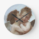 Cupid and Psyche as Children Round Wallclocks