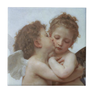 Cupid and Psyche as Children Tile
