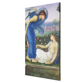 Cupid and Psyche, c.1865 (w/c, bodycolour and past Canvas Print