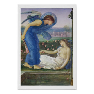 Cupid and Psyche, c.1865 (w/c, bodycolour and past Poster