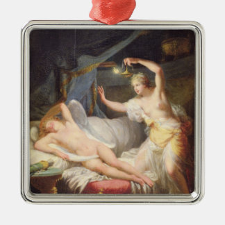 Cupid and Psyche Metal Ornament