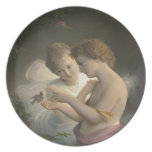 Cupid and Psyche peace love joy Plates