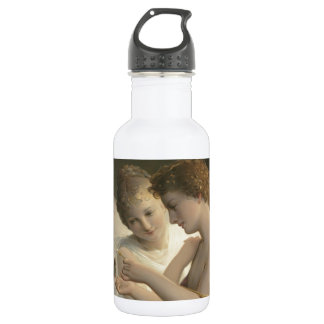 Cupid and Psyche peace love joy Stainless Steel Water Bottle